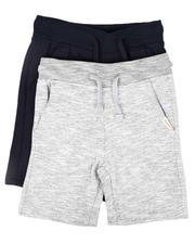 Weatherproof - 2 Pk Marled & Solid Fleece Shorts (4-7)-2654042