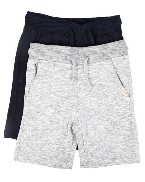 Weatherproof - 2 Pk Marled & Solid Fleece Shorts (4-7)