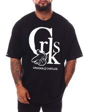 Crooks & Castles - CRKS Logo T-Shirt (B&T)-2654721