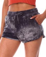 Fashion Lab - Knit Tie Dye Jogger Shorts-2651395
