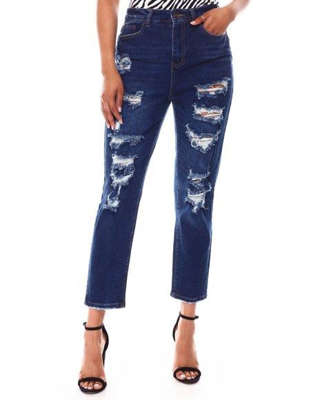 Fashion Lab - Distressed 5 Pocket Jeans