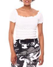 Women - Variegated Smocked Top W/Short Puff Sleeve-2654335