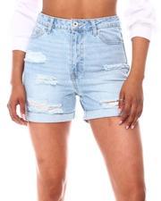 Fashion Lab - Distressed Shorts W/Roll Cuff-2654424