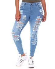 Fashion Lab - Distressed High Waist Jeans (Plus)-2650359