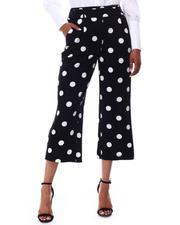 Fashion Lab - Polka Dot Print Capri Pants-2654320