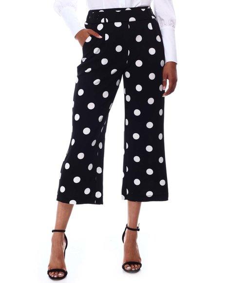 Fashion Lab - Polka Dot Print Capri Pants