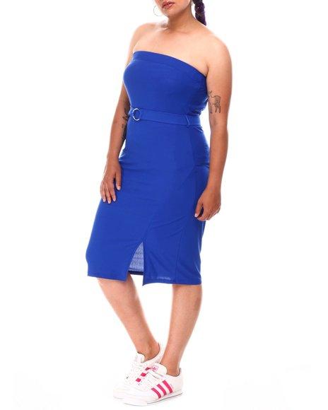 Fashion Lab - Strapless Belted Dress (Plus)