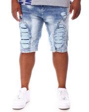 Makobi - Shredded Denim Shorts (B&T)-2655101