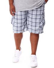 Buyers Picks - Plaid Printed Cargo Shorts (B&T)-2655162