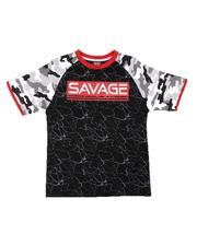 Arcade Styles - Savage Camo Ringer Tee (8-18)-2655412