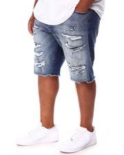 Jordan Craig - Rip & Tear Distressed Raw Hem Denim Shorts (B&T)-2655756