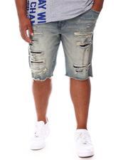 Jordan Craig - Rip & Tear Distressed Raw Hem Denim Shorts (B&T)-2655766
