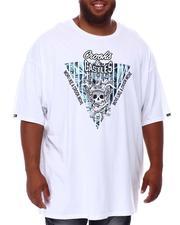 Crooks & Castles - Skull Reverse Core Logo T-Shirt (B&T)-2655723