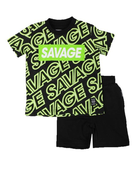 Phat Farm - 2 Pc All Over Savage Print Tee & Solid Shorts Set (2T-4T)
