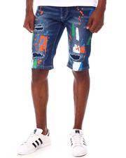 Shorts - Paint Splatter Denim Short-2656958