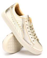 Grade School (5 yrs+) - Suede Jr. 50th Gold Sneakers (4-7)-2655812