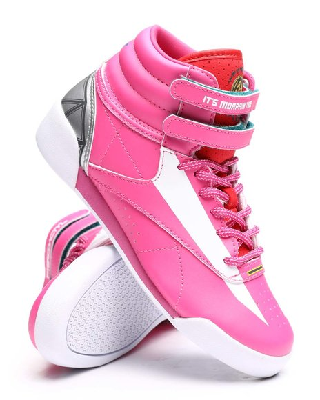 Reebok - Reebok x Power Rangers Freestyle Hi Pink Sneakers (11-3)