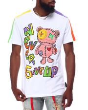 Shirts - CHENILLE CURSED BEAR COLOR BLOCK TEE-2657820