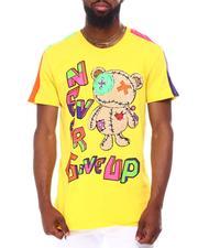 Shirts - CHENILLE CURSED BEAR COLOR BLOCK TEE-2657857