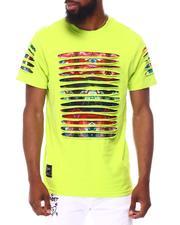 Shirts - RAZOR SLASHED TEE W GRADIENT PRINT-2657863