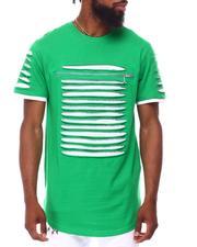 Shirts - Razor Slashed Tee w Zipper Trim-2657887