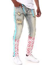 Cooper 9 - C9 Graffiti Stripe Fuscia Baby Blue Jeans-2657918