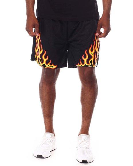 RP1 - BLACK FLAME BASKETBALL SHORT