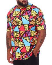 Big & Tall - Multi Geometric Dye Sub Print T-Shirt (B&T)-2659129