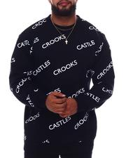 Crooks & Castles - Core All Over Print Crewneck Pullover (B&T)-2656293