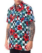 Reason - Floral Check Woven Shirt-2659369