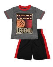 Arcade Styles - 2 Pc Future Legend Tee & Shorts Set (4-7)-2654142