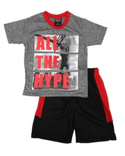 Arcade Styles - 2 Pc All The Hype Tee & Shorts Set (4-7)-2654146