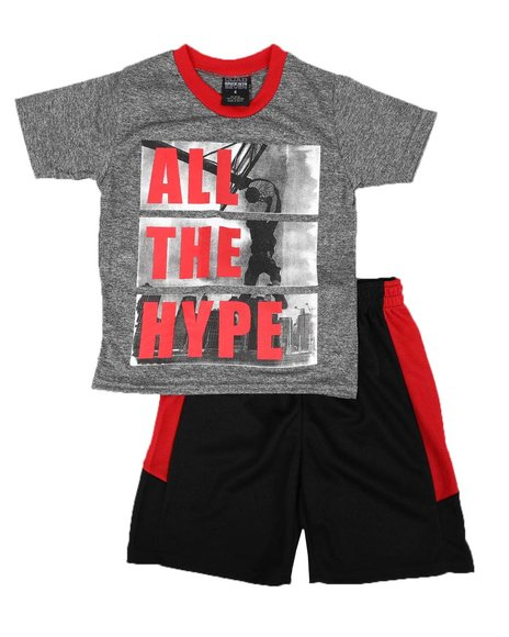 Arcade Styles - 2 Pc All The Hype Tee & Shorts Set (4-7)