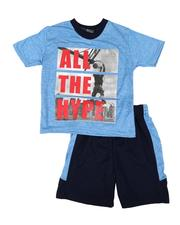 Arcade Styles - 2 Pc All The Hype Tee & Shorts Set (4-7)-2654150