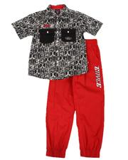 Sets - 2 Pc All Over Print Button Down Shirt & Jogger Set (8-20)-2654154