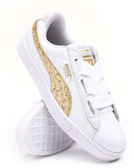 Puma - Basket Heart Glitter Sneakers