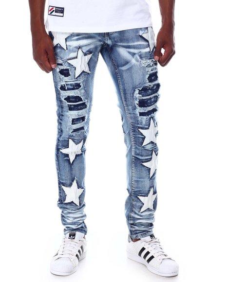 Cooper 9 - Bleach effect Star Denim Paint Jean