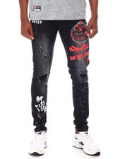 Jeans - Graphic Rip and Repair Jeans with Splatter detail-2659959