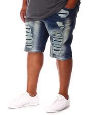 Makobi - Shredded Denim Shorts (B&T)-2655094
