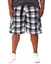 Big & Tall - Plaid Printed Cargo Shorts (B&T)-2660623