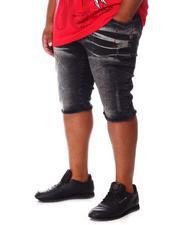 Big & Tall - Paint Splatter Denim Shorts (B&T)-2660721