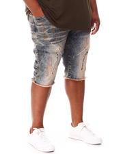 Big & Tall - Paint Splatter Denim Shorts (B&T)-2660763