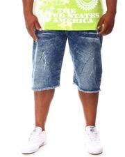 Big & Tall - Paint Splatter Denim Shorts (B&T)-2660814