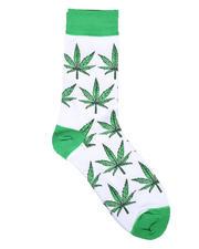 DRJ SOCK SHOP - Leaves Crew Socks-2659041