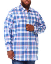 Nautica - Poplin Plaid Print Long Sleeve Woven Shirt (B&T)-2660321