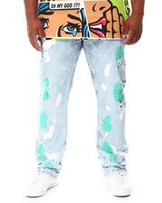 Jeans - Paint Splatter Rip & Repair Denim Jeans (B&T)-2660516