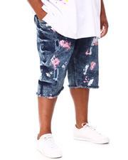 Big & Tall - Rip & Repair Distressed Denim Shorts (B&T)-2660532