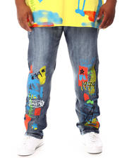Buyers Picks - Graffiti Paint Print Denim Jeans (B&T)-2660566