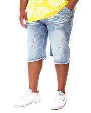 Big & Tall - Paint Splatter Denim Shorts (B&T)-2660807