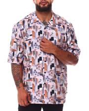 Button-downs - Abstract Woven Short Sleeve Shirt (B&T)-2660242